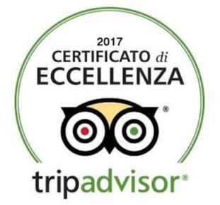 Certificato di Eccellenza tripadvisor - 2017