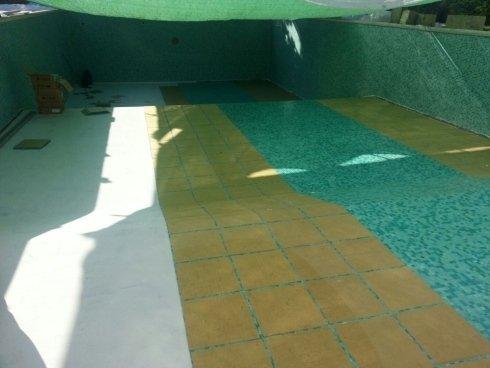 rivestimento piscina - fasi di lavorazione
