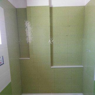 Rivestimento finto mosaico verde