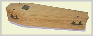 Wood Veneer Coffin