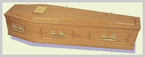 Solid Wood Coffin