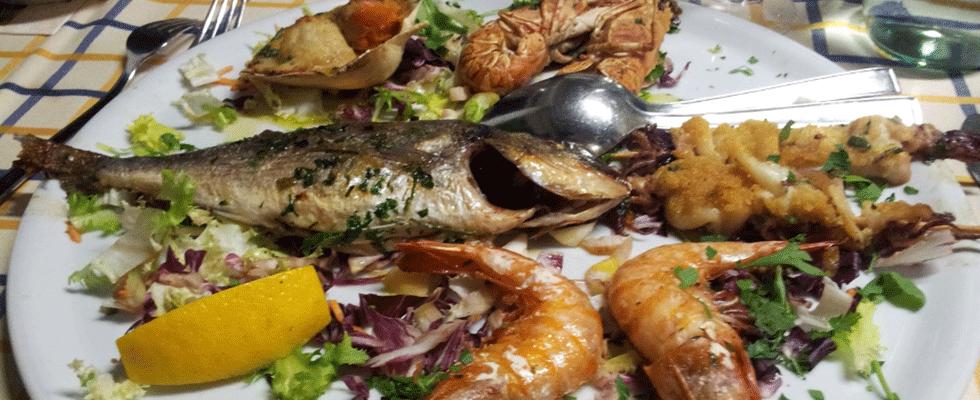 piatti di pesce e crostacei