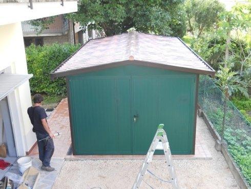 box coibentato verde con copertura