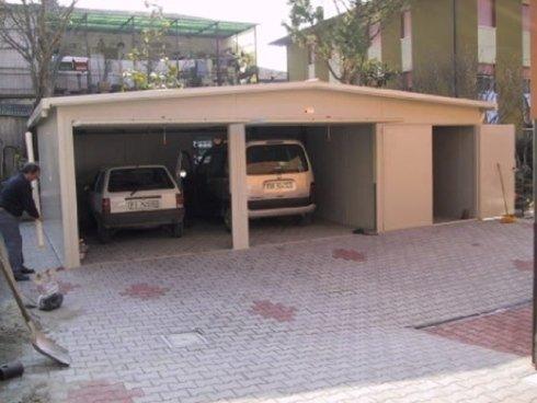 coibentato 2 posti auto con tetto