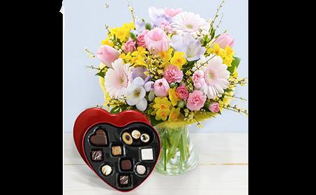 ciccolatini e fiori
