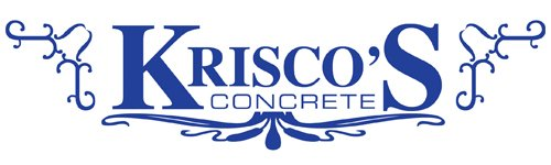kriscos concrete business logo
