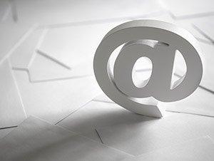 chiocciola della posta elettronica