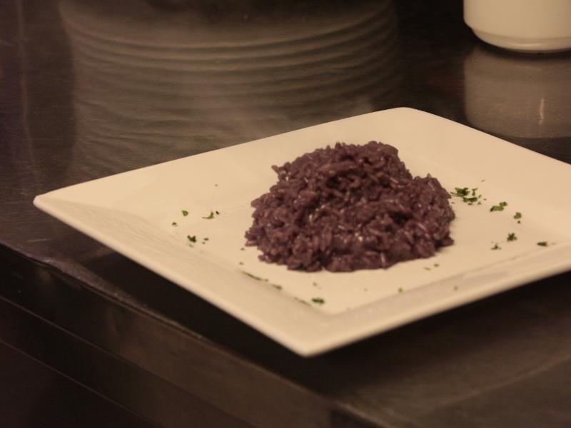 piatto con risotto