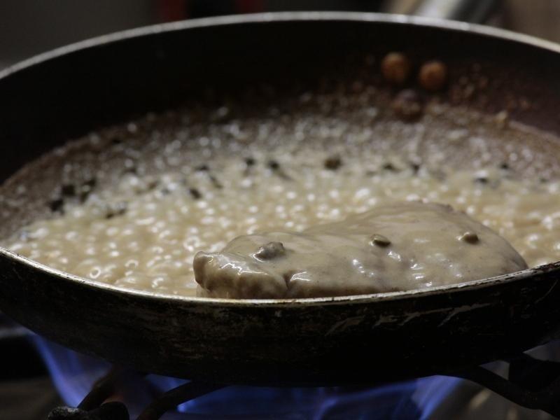 carne con crema in padella