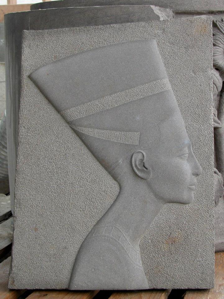 Sculpture of man's face