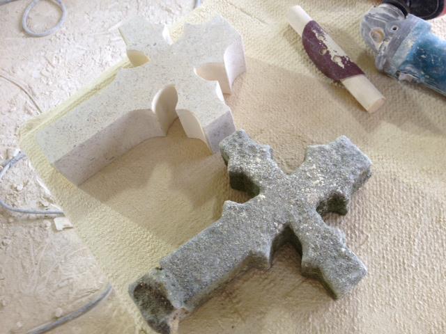 Sculpture of cross