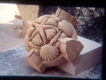 sculpture sea animals and shells