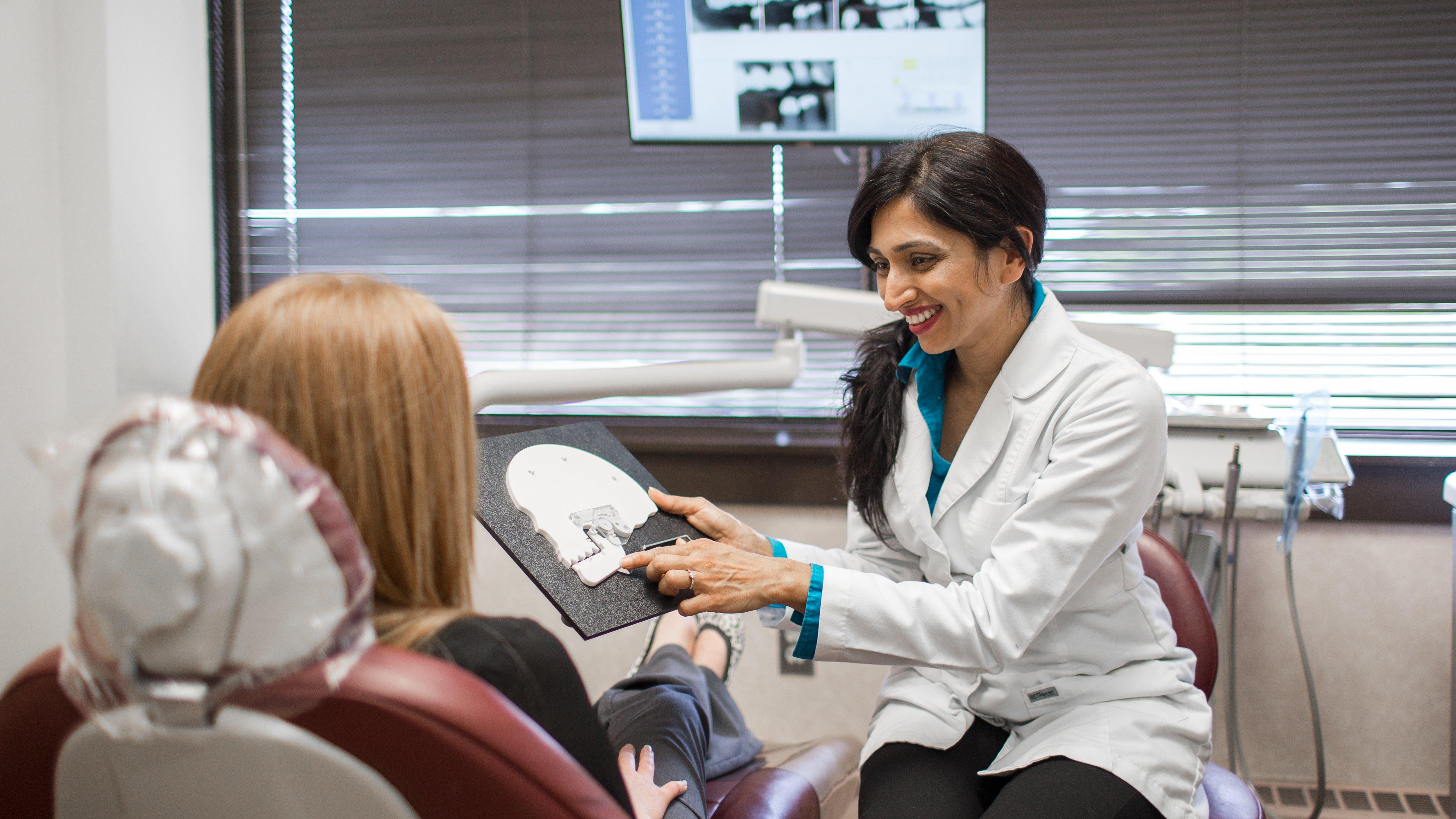 Dr Bhavisha Patel with patient Saugus, MA