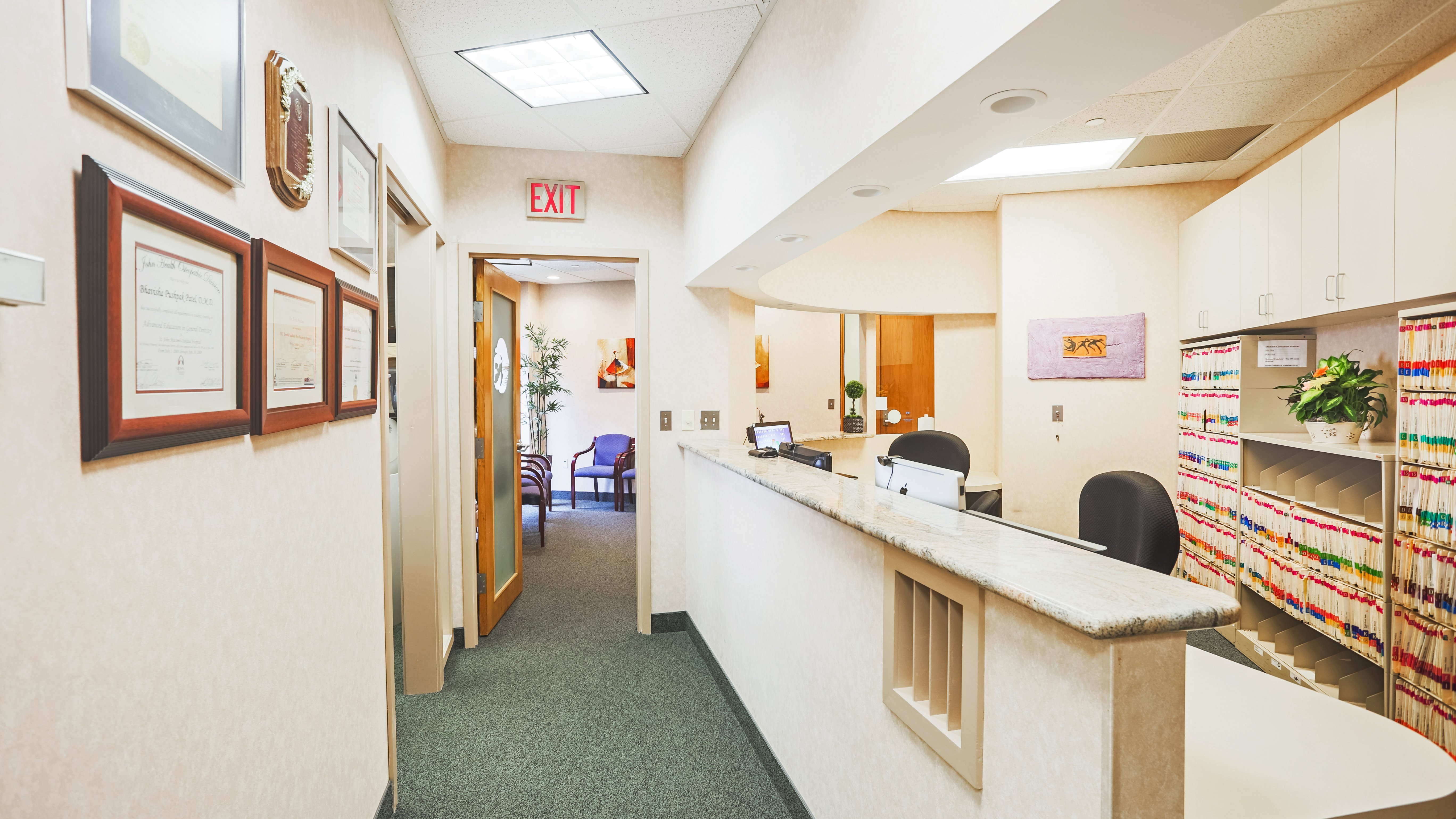 Boston North Dental front desk area Saugus, MA