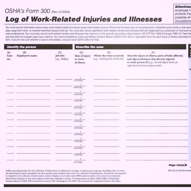 CalOsha Electronic Reporting Of Injury And Illness Data