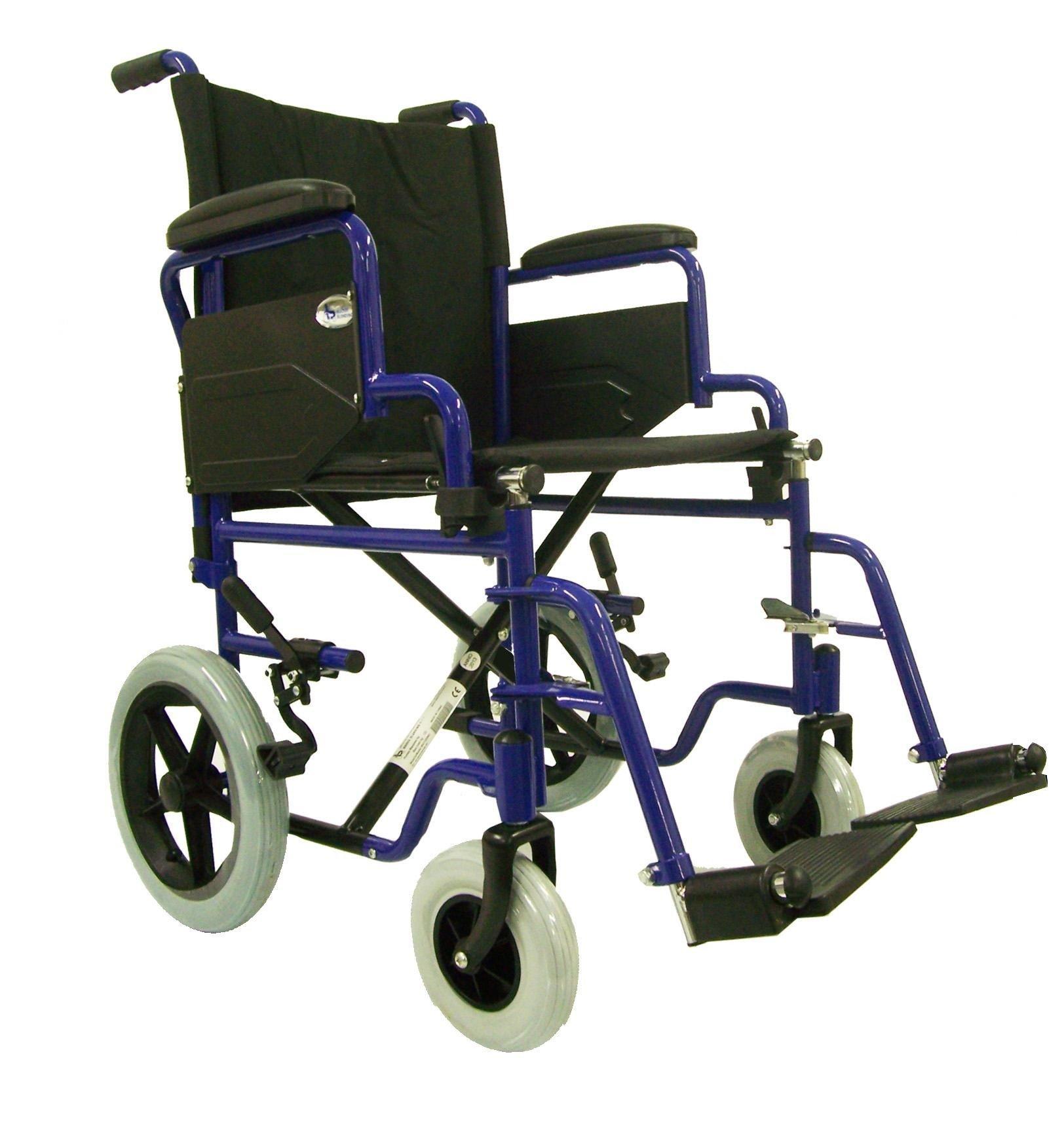 Carrozzina o sedia a rotelle pieghevole da transito