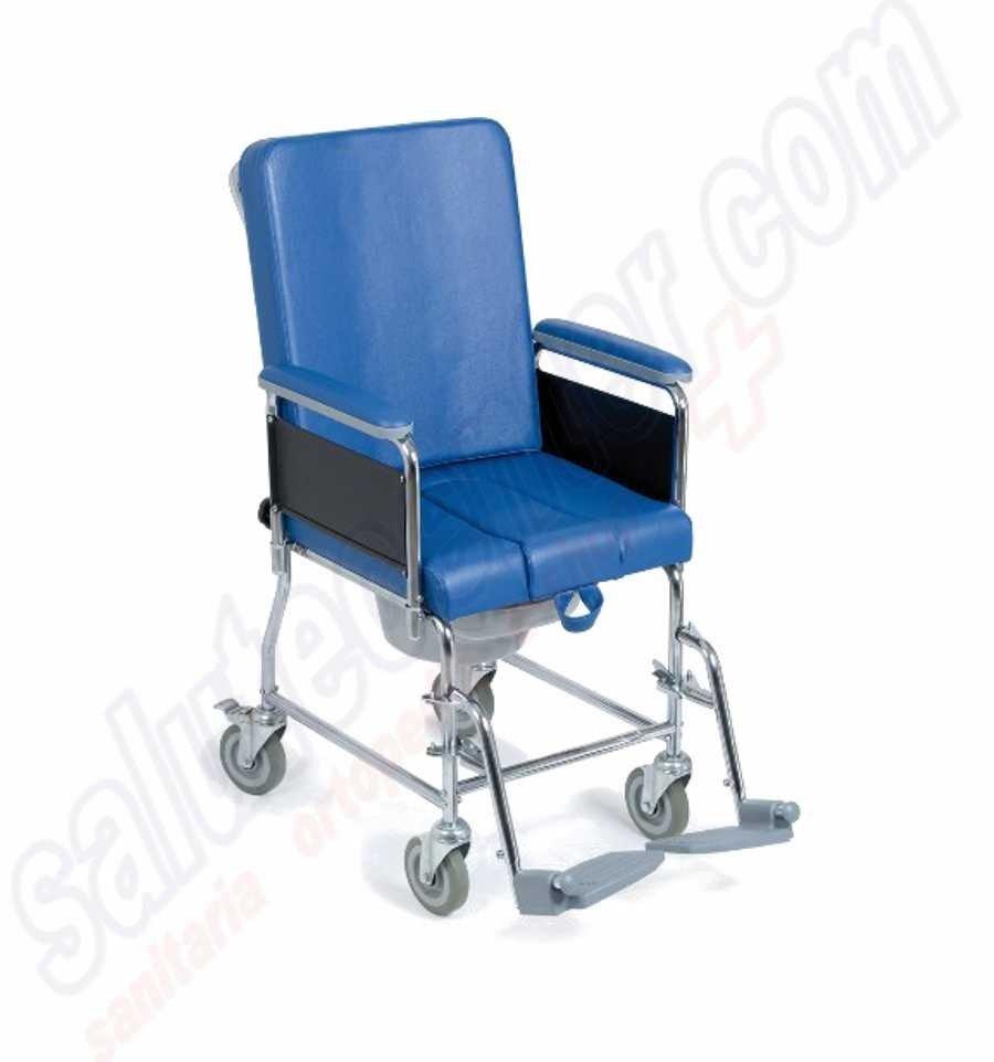 carrozzina sedia comoda su ruote con schienale per anziani e disabili