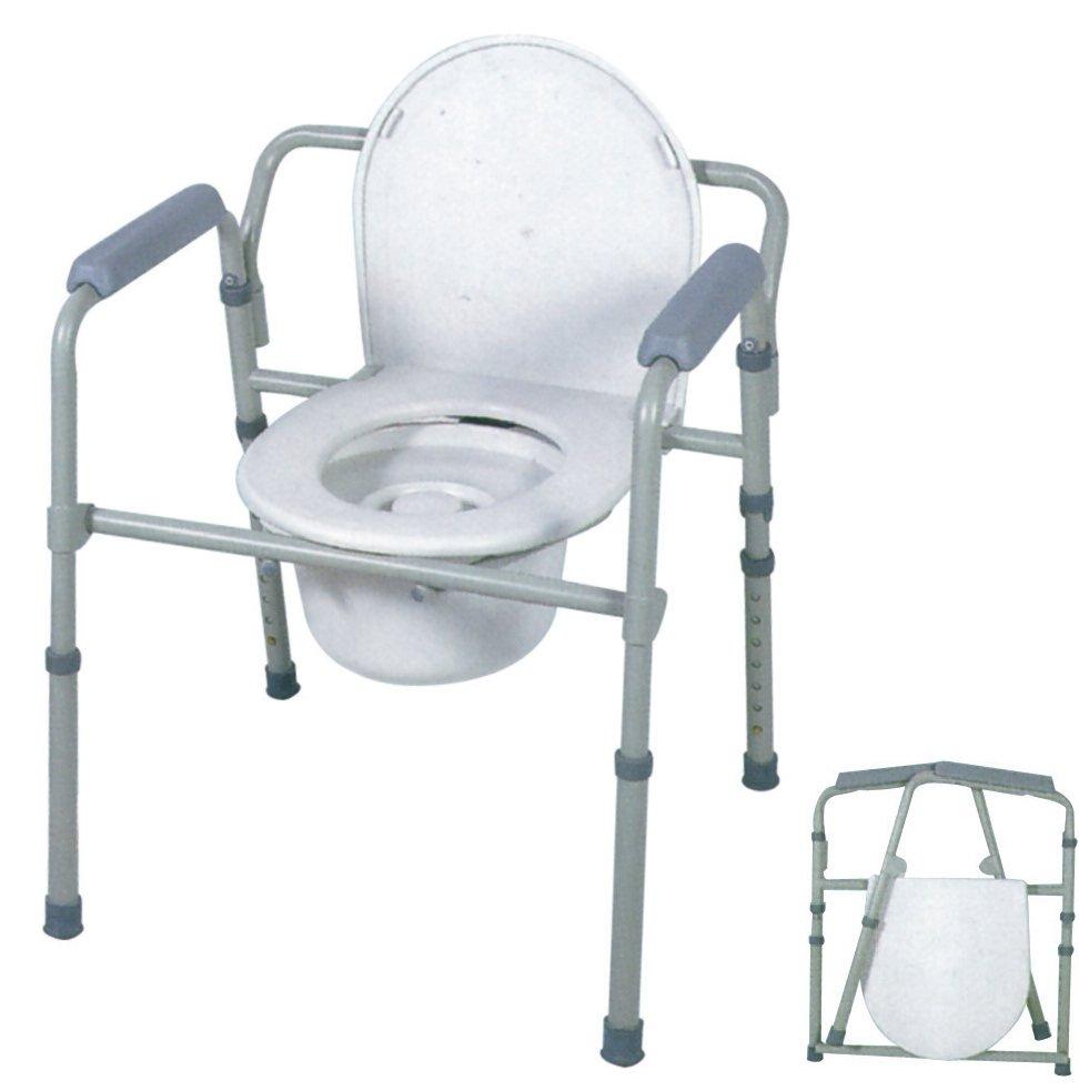 triplice funzione di comoda wc, rialzo per wc e sedia da doccia
