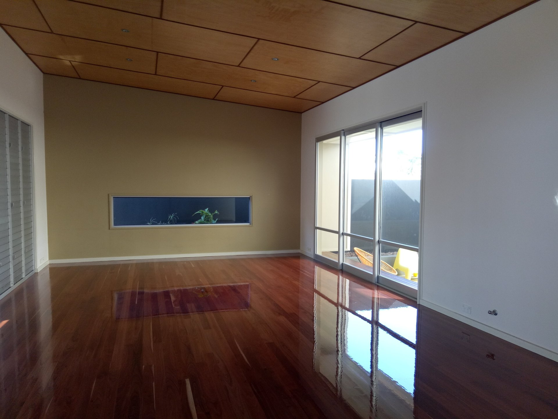 View of a room with timber flooring