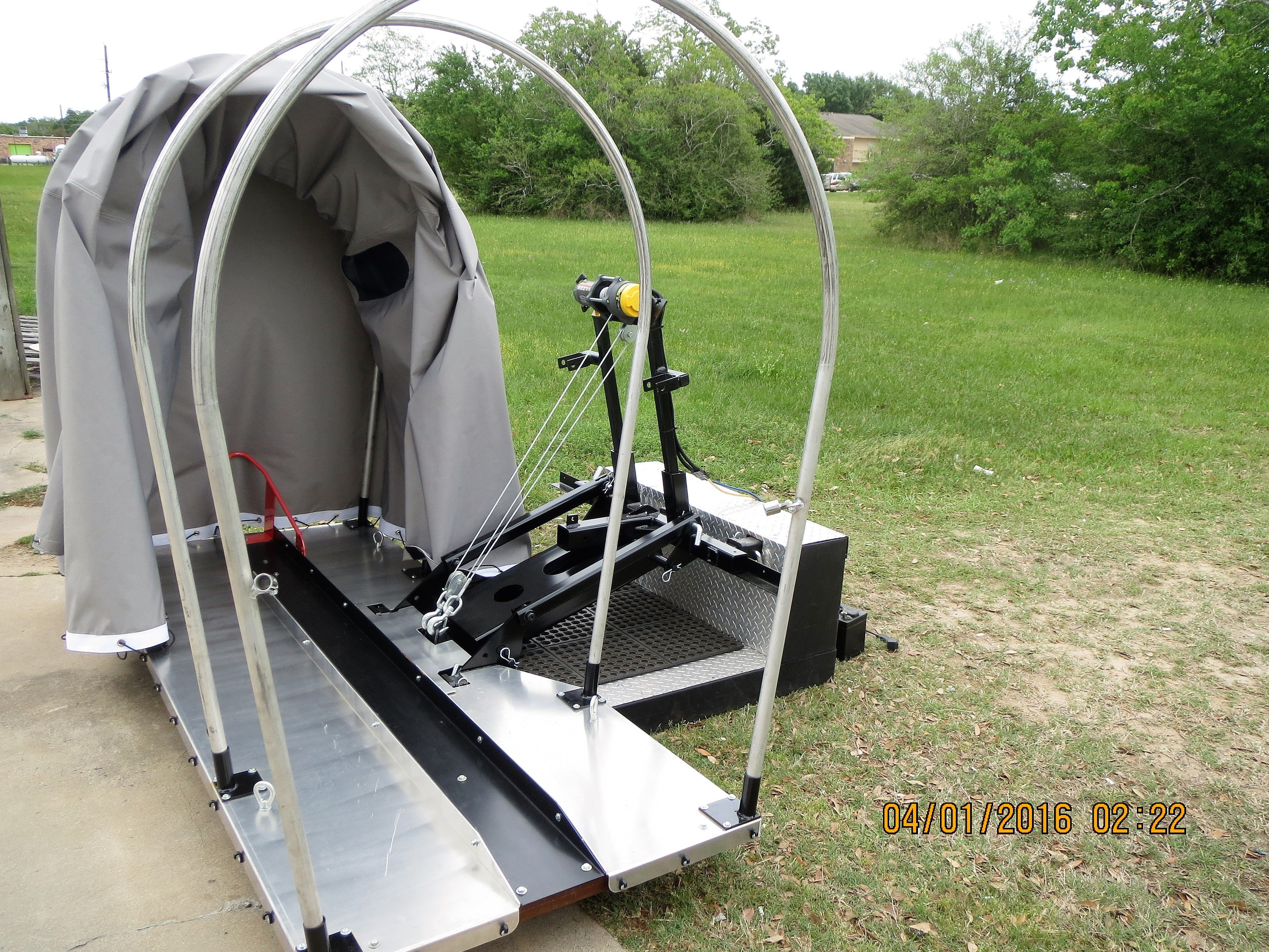 Motorcycle RV Lift with Cover