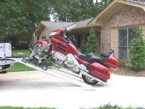 Motorcycle pickup loader