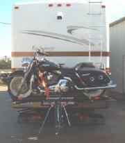 Rv Motorcycle Loader on Holiday Rambler