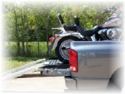Motorcycle Pickup Loader In Use