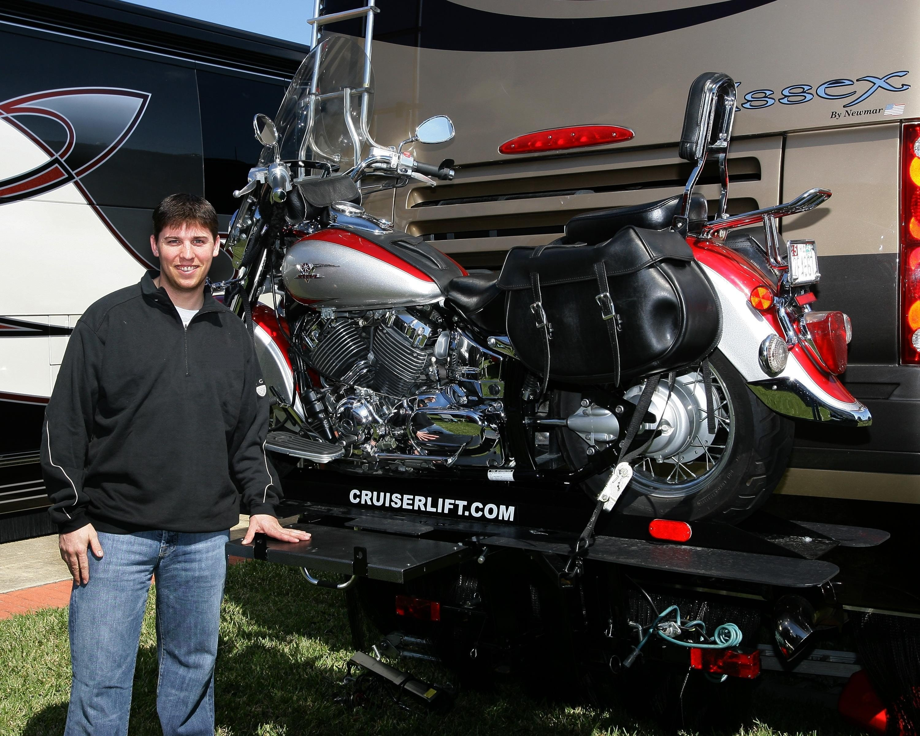Cruiserlift RV Motorcycle Lift With Denny Hamlin