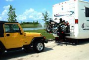 Motorcycle Carrier that can Flat Tow off the back
