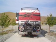 Cruiserlift Motorcycle Carrier on Prevost RV