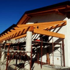 realizzazione tettoie in legno