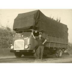 Foto storica camion traslochi