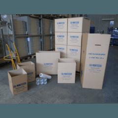 Scatole di varie dimensioni e materiale da imballo