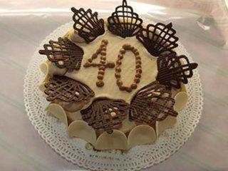 Torta decorata al cioccolato
