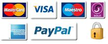 MASTERCARD VISA PayPal logos