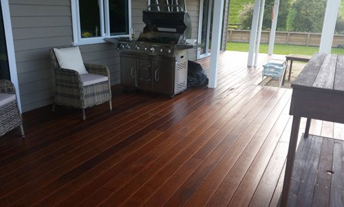 Newly installed wooden flooring
