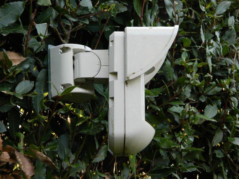 primo piano di una telecamera di sicurezza