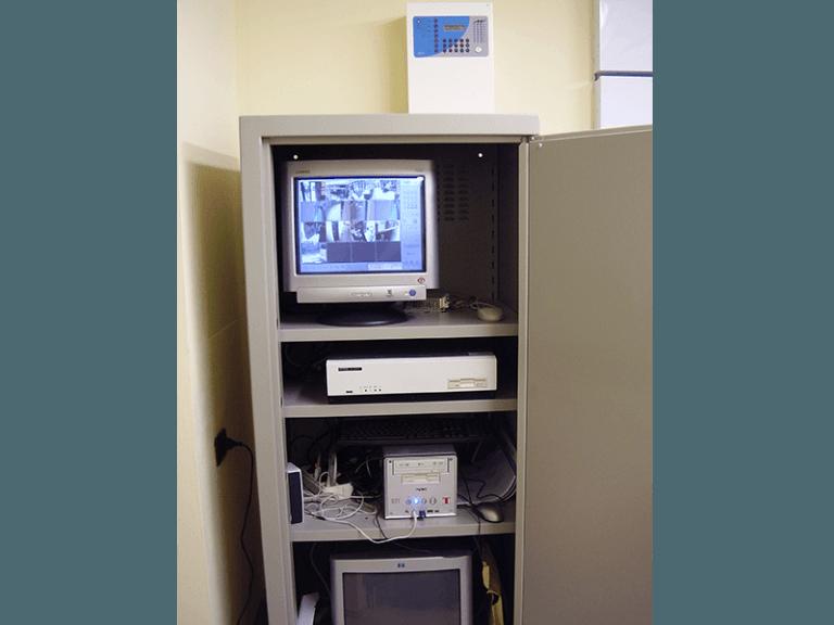 cabina registrazione immagine ci telecamera a circuito chiuso