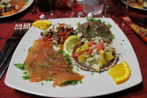 antipasto di pesce, specialità pesce, pesce alla griglia,