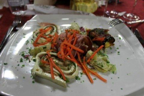 antipasto di pesce, ristorante, primi piatti,