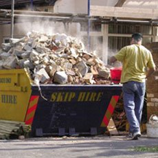 skip hire demolition services preston d a scrivens. Black Bedroom Furniture Sets. Home Design Ideas