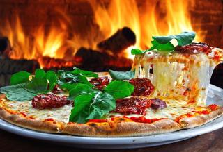 pizza forno a legna lampara