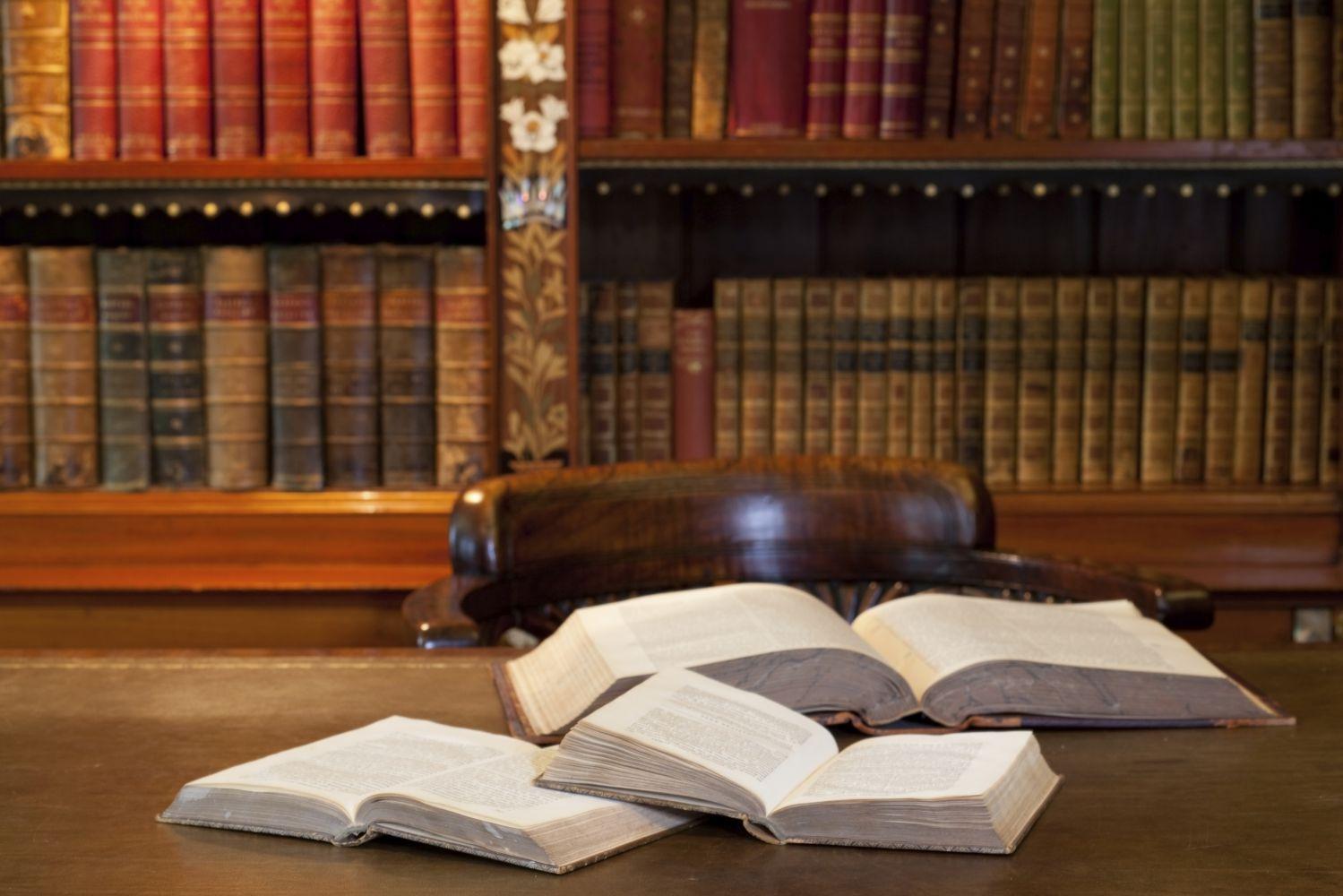 Book in a law office in Richmond Hill, GA