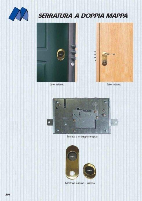 serratura a doppia mappa
