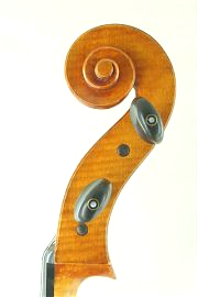 Edward Gaut 2000 cello scroll