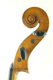 German trade cello scroll C.1900