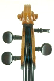 German trade cello pegbox C.1900