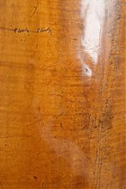 Finished crack repair - Edward Gaut Violins - Bristol UK