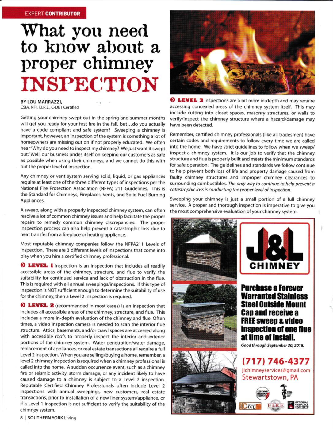 Chimney Repair Video Inspection Stewartstown Pa