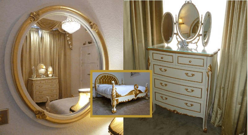 Before and after dressing table